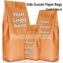 Side Gusset Pouch Paper Kraft Foil